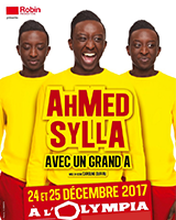 Ahmed Sylla en spectacle à L'Olympia, à Paris
