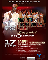 MAX ZITA & CHOEURS GOSPEL DE FRANCE + GUESTS